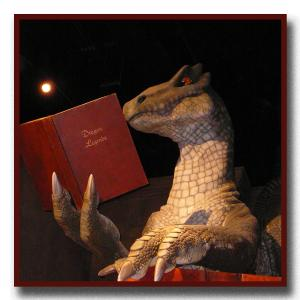 """""""Thank goodness,"""" Tom the T-Rex said to himself, """"that I came across that book blog!"""""""
